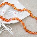 Honey Olive (Bean) Amber Necklace