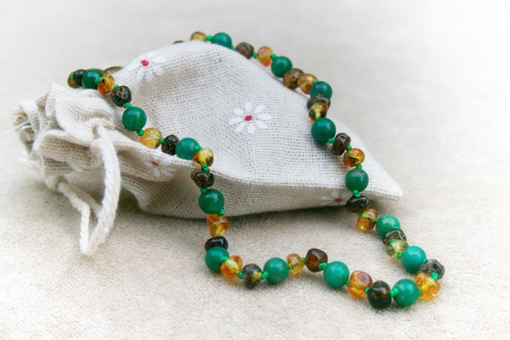 African Jade Amber Necklace