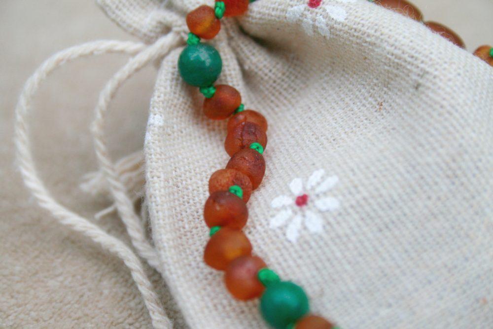 Raw Cognac - African Jade Amber Necklace