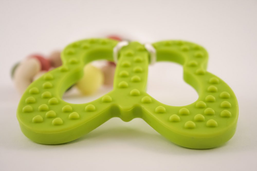 Butterfly Teether Baby Toy - Green - Silicone - Free Shipping within the UK