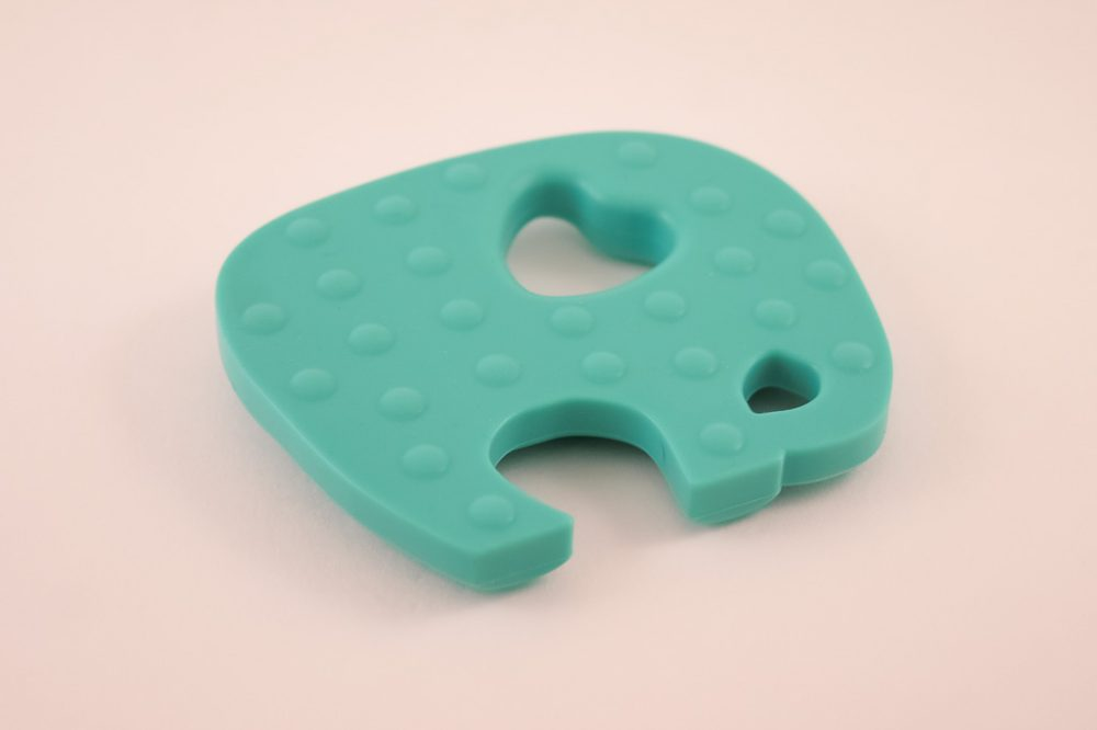 Elephant Teether Toy - Turquoise - Silicone