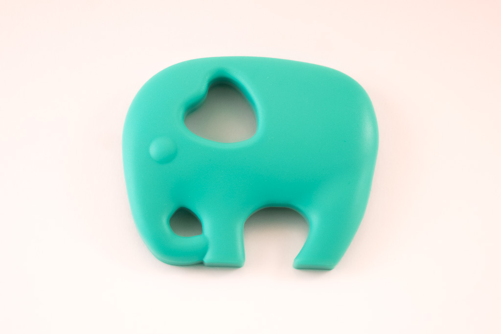 Elephant Teether Toy Turquoise Silicone Free