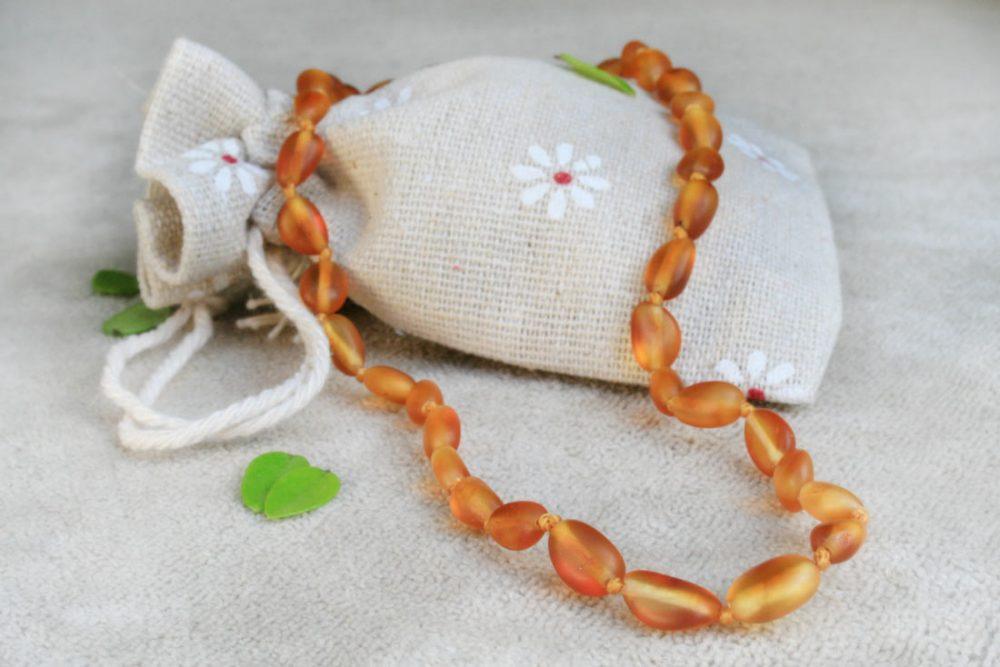 Baltic Amber Necklace and Bracelet Set (Honey/Cognac)