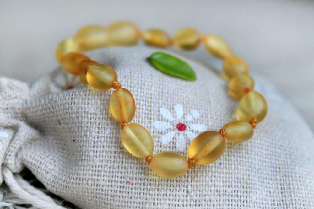 Baltic Amber Necklace and Bracelet Set (Lemon Raw)