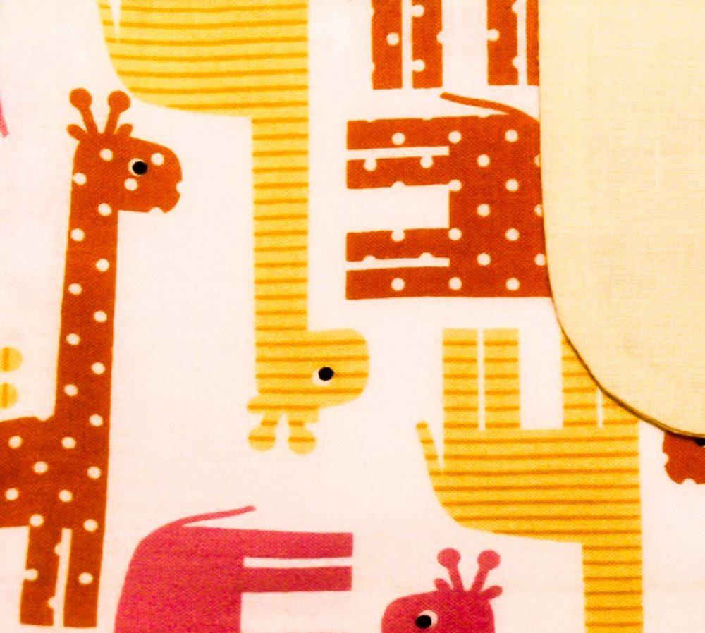 Nappy Wallet - Giraffes - Handmade