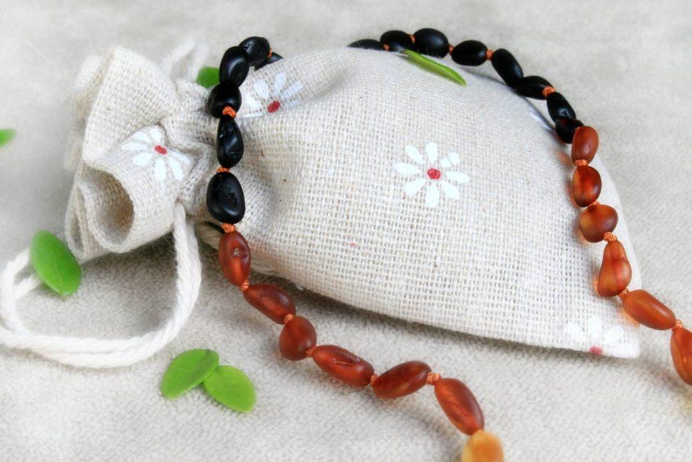 Reversed Rainbow (Bean) - Raw Necklace