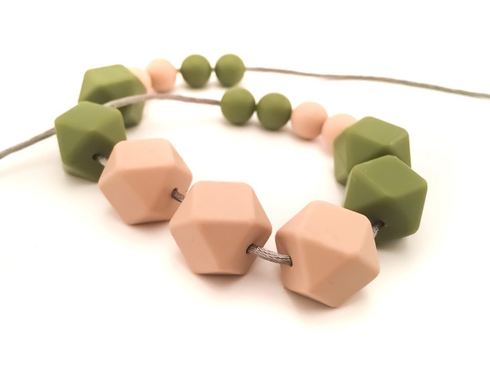 Teething/Nursing Necklace for Mom to wear- Natural Silicone